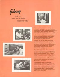 1962 Gibson guitar and bass catalogue - page 2