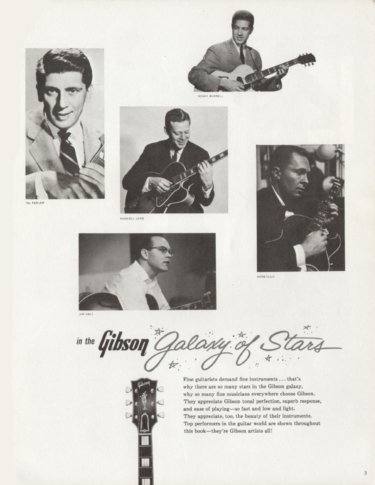 1962 Gibson guitar and bass catalogue - page 3