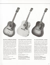 1962 Gibson guitar and bass catalogue page 35
