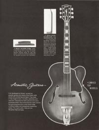 1962 Gibson guitar and bass catalogue page 39