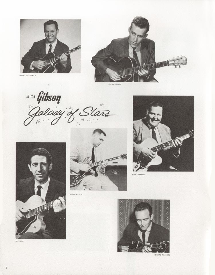 1962 Gibson guitar and bass catalogue - page 4