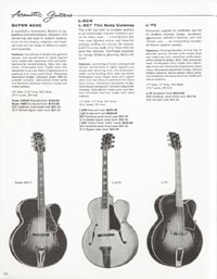 1962 Gibson guitar and bass catalogue page 40