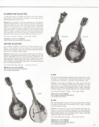 1962 Gibson guitar and bass catalogue page 45