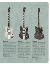 1964 Gibson guitar and bass catalogue page 11