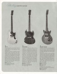 1964 Gibson guitar and bass catalogue page 12