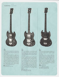 1964 Gibson guitar and bass catalogue page 14