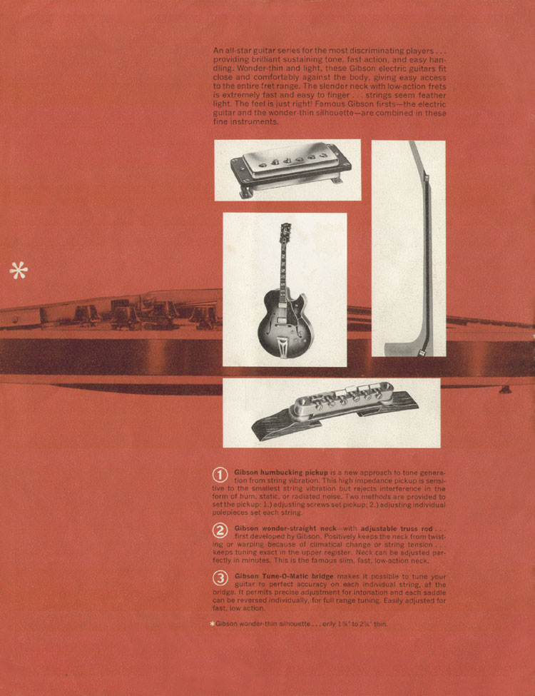 1964 Gibson Guitar and Bass catalogue back cover