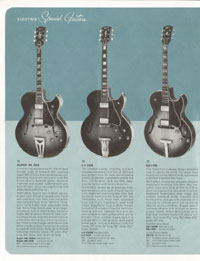 1964 Gibson guitar and bass catalogue page 4