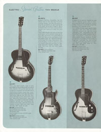 1964 Gibson guitar and bass catalogue page 8
