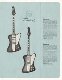 1964 Gibson guitar and bass catalogue page 9