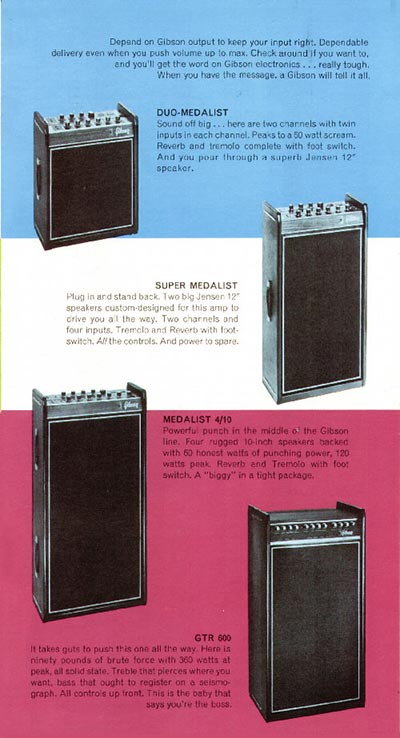1968 Gibson guitar pamphlet page 5