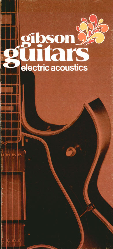 1970 Gibson Electric Acoustics catalogue front cover