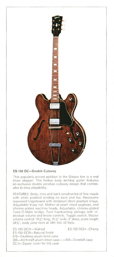Gibson ES-150DC - 1970 Gibson Electric Acoustics catalogue Page 10