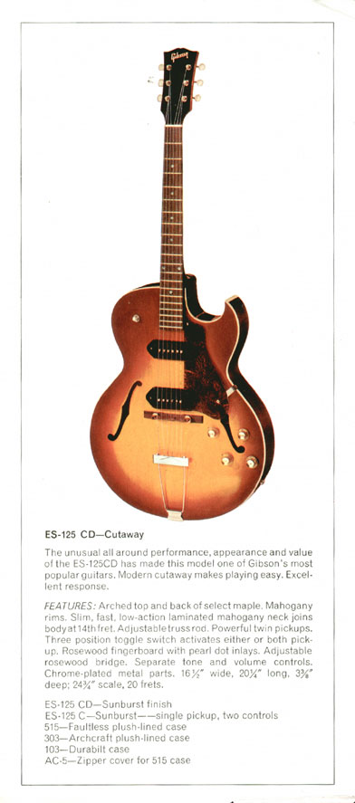 Gibson ES-125CD - 1970 Gibson Electric Acoustics catalogue Page 11