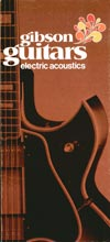 1970 Gibson electric acoustics catalogue