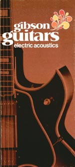 1970 Gibson Electric Acoustics catalogue cover