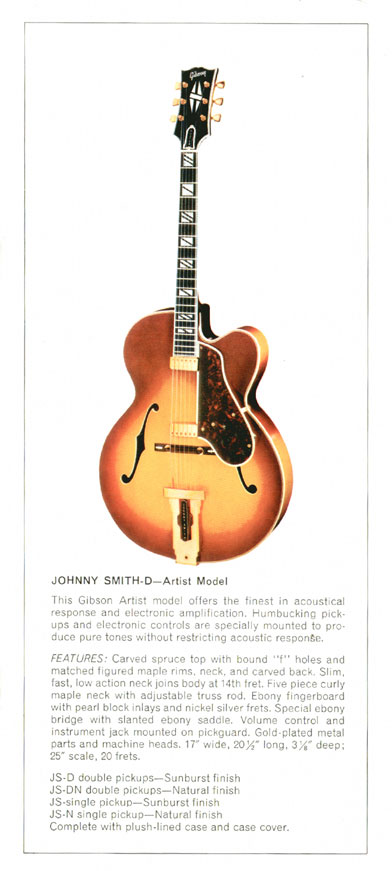 Gibson Johnny Smith - 1970 Gibson Electric Acoustics catalogue Page 3