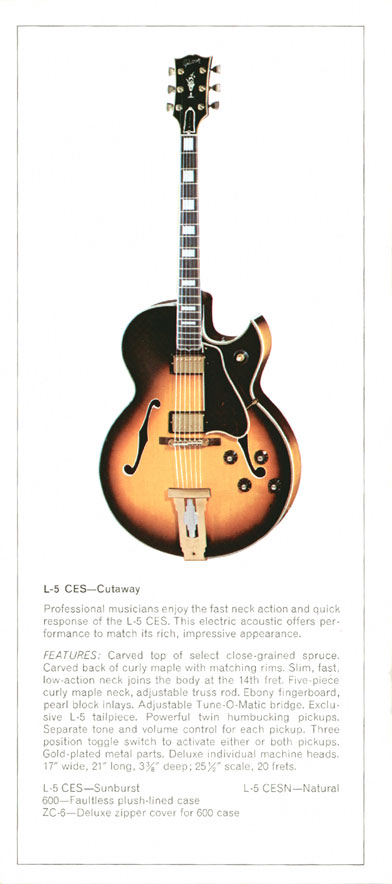 Gibson L5-CES - 1970 Gibson Electric Acoustics catalogue Page 8