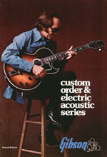 1975 Gibson custom order and electric acoustics catalogue