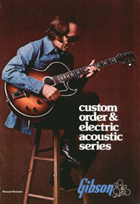 1975 Gibson Electric Acoustics catalogue cover