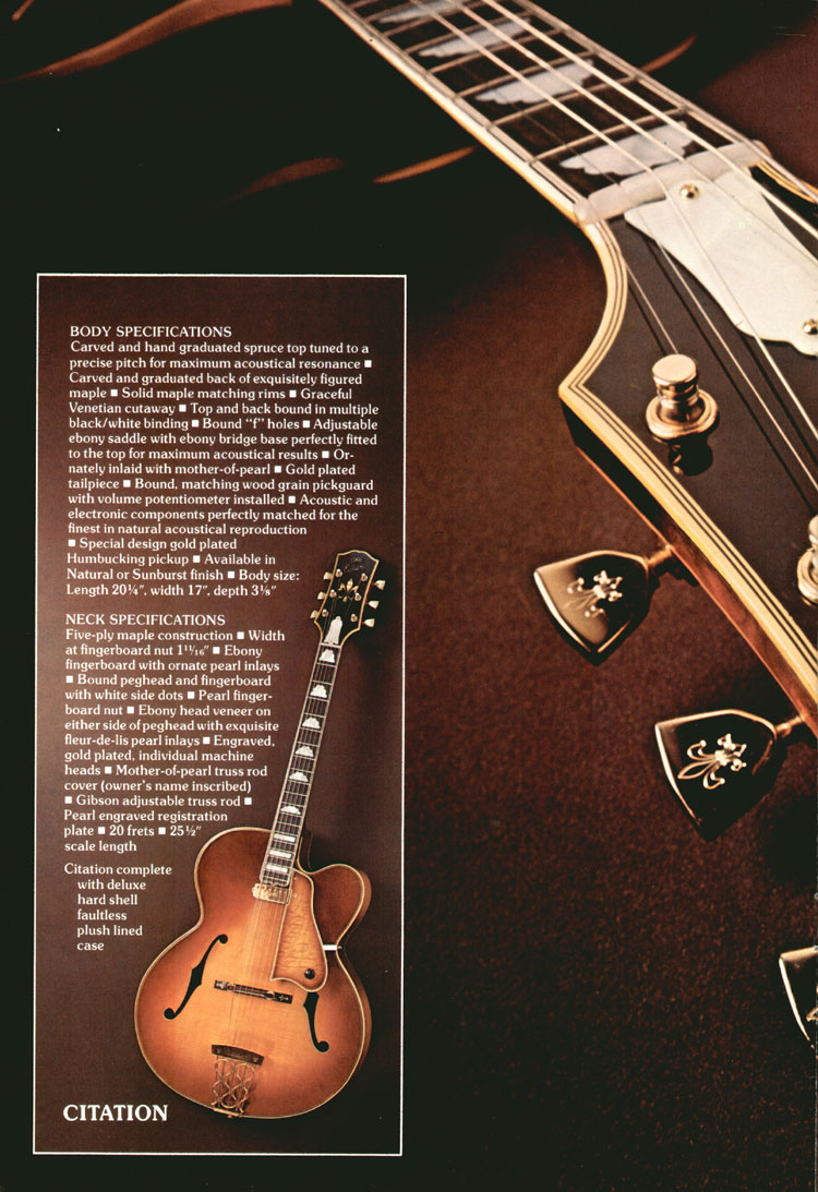 Gibson Citation - 1975 Gibson Electric Acoustics catalogue Page 4