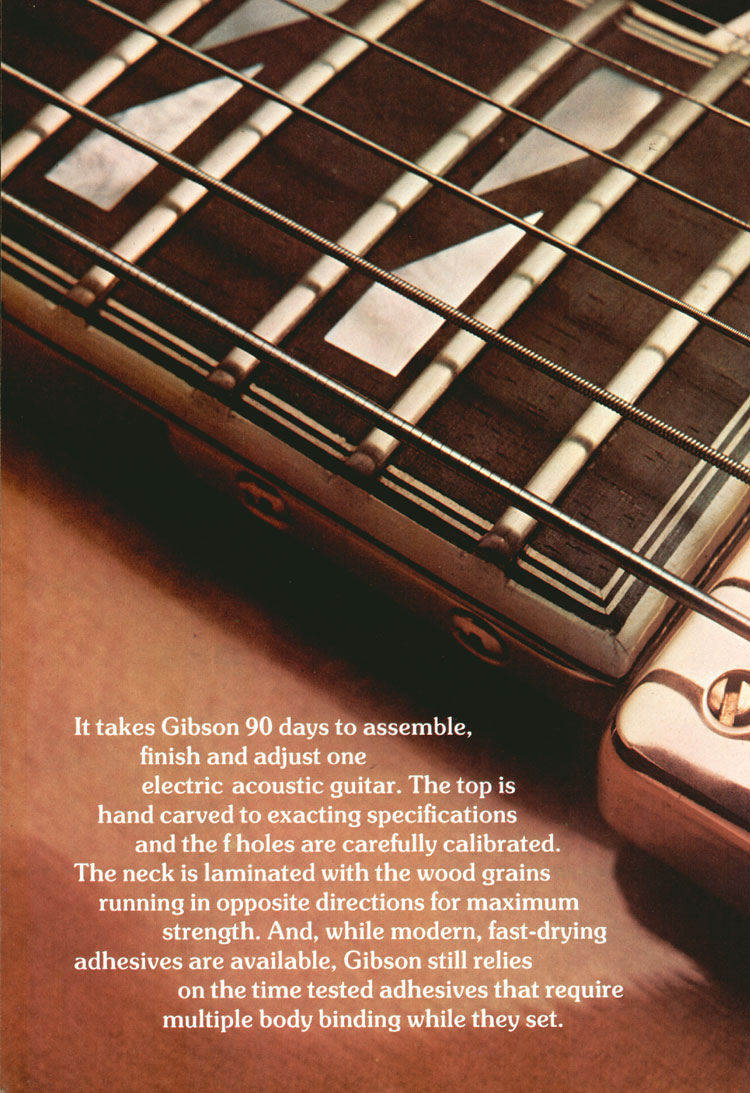 Gibson Johnny Smith - 1975 Gibson Electric Acoustics catalogue Page 8