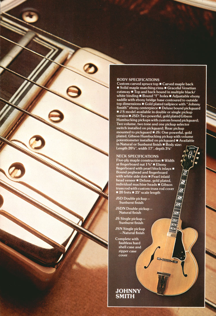 Gibson Johnny Smith - 1975 Gibson Electric Acoustics catalogue Page 9