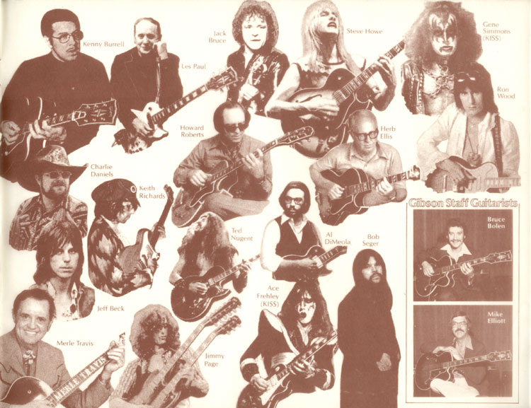1978 Gibson Quality / Prestige / Innovation catalogue inside back cover