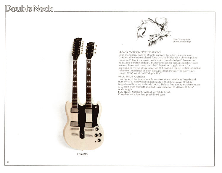1978 Gibson Quality / Prestige / Innovation catalogue page 12 - EDS-1275
