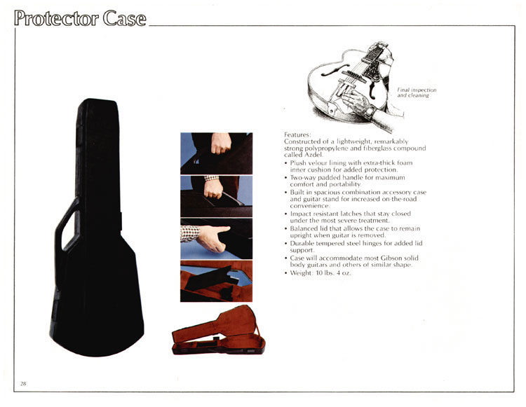 1978 Gibson Quality / Prestige / Innovation catalogue page 28 - Protector case