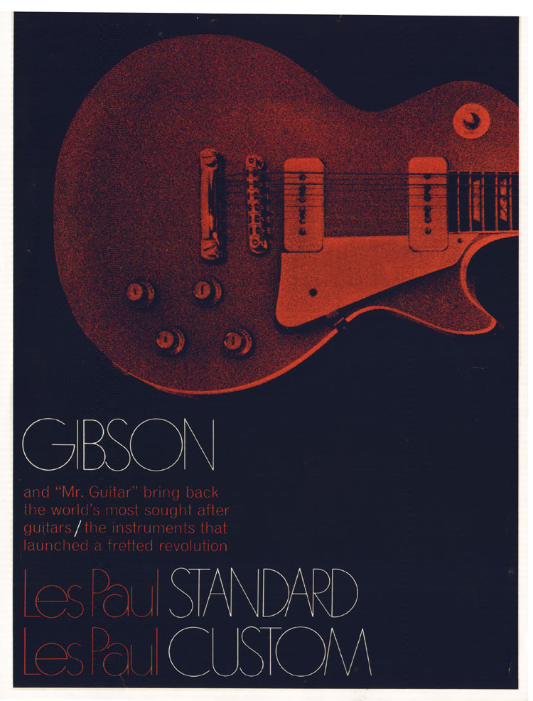 1968 Gibson Les Paul Brochure front cover
