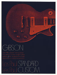1968 Gibson Les Paul Brochure cover
