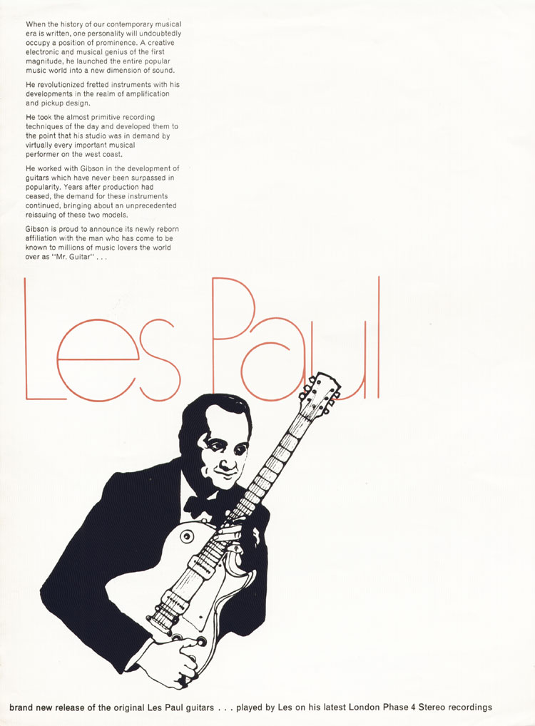 1968 Gibson Les Paul Brochure page 2