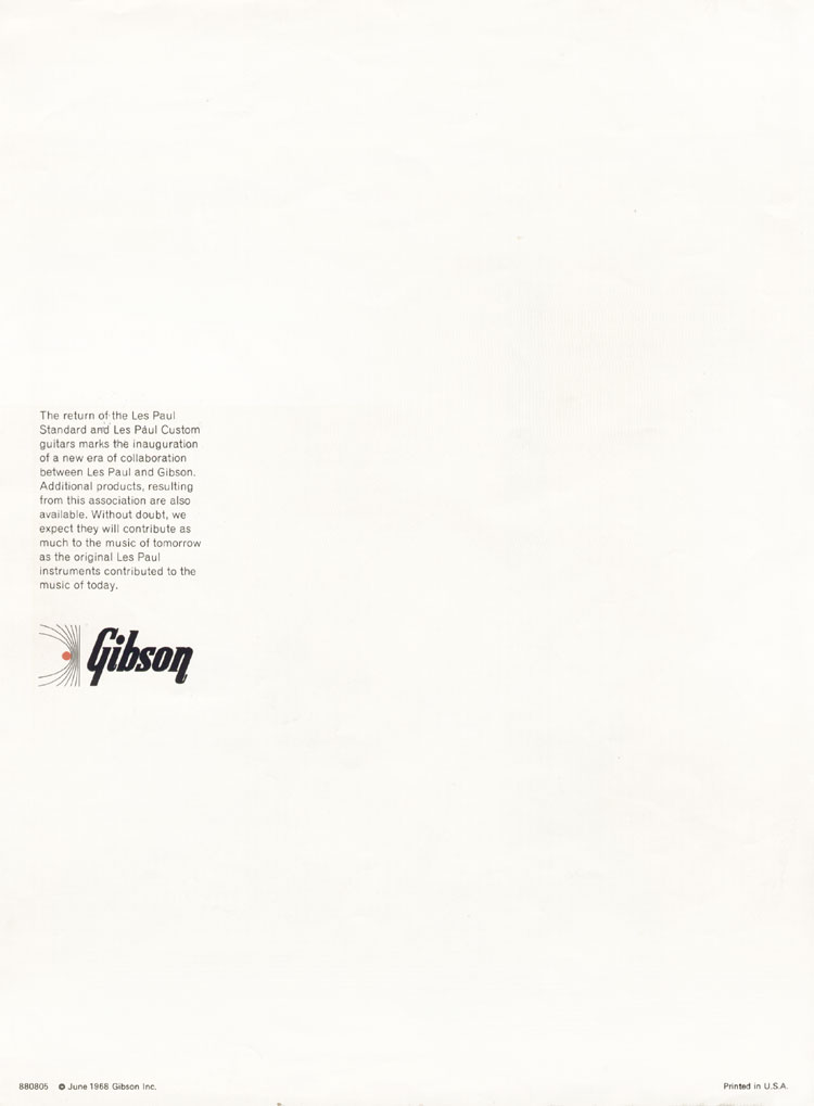 1968 Gibson Les Paul Brochure page 4