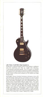 1970 Gibson Les Paul catalogue page 3