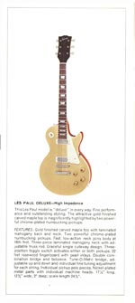 1970 Gibson Les Paul catalogue page 4