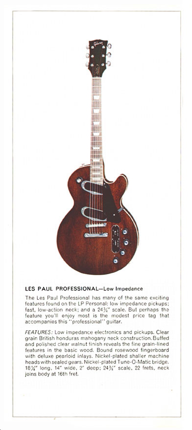 1970 Gibson Les Paul catalogue page 6