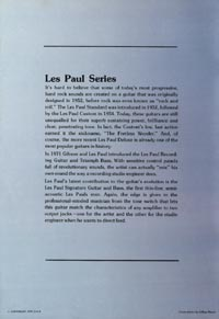1975 Gibson Les Paul catalogue page 2
