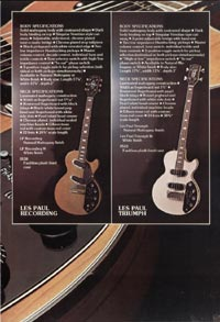 1975 Gibson Les Paul catalogue page 7
