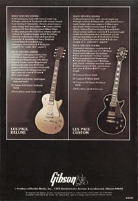 1975 Gibson Les Paul catalogue page 8
