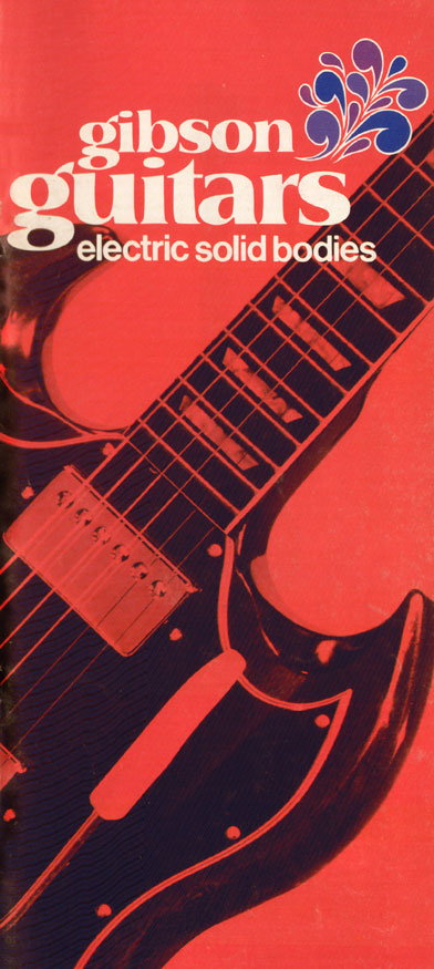 1970 Gibson Electric Solid Bodies catalogue front cover