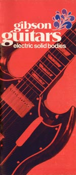 1970 Gibson Electric Solid Bodies catalogue cover