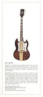 1970 Gibson Electric Solid Bodies catalogue page 2