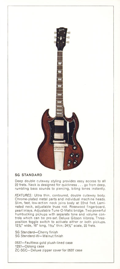 1970 Gibson Electric Solid Bodies catalogue page 3