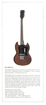 1970 Gibson Electric Solid Bodies catalogue page 4