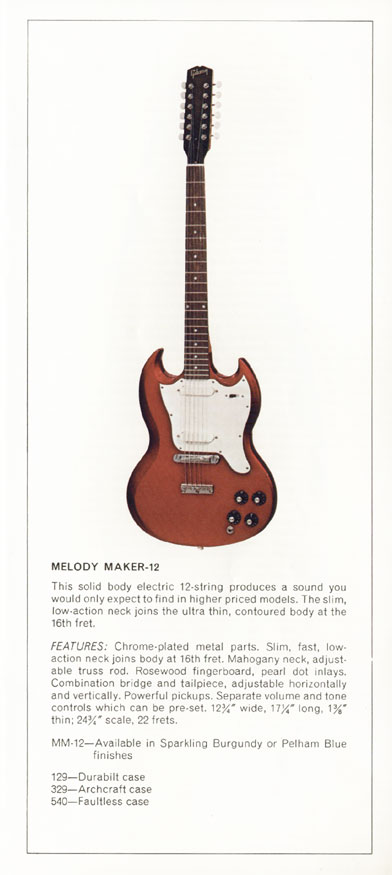1970 Gibson Electric Solid Bodies catalogue page 5