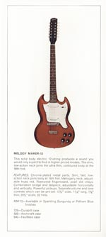 1970 Gibson Electric Solid Bodies catalogue page 7
