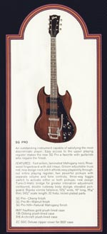 1972 Gibson solid bodies catalogue page 5 - SG Pro