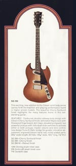1972 Gibson solid bodies catalogue page 8 - SG250