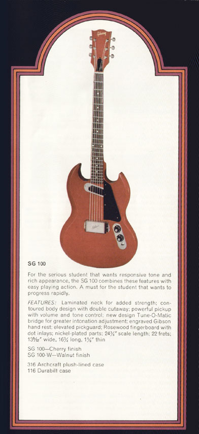 1972 Gibson SG catalogue page 9